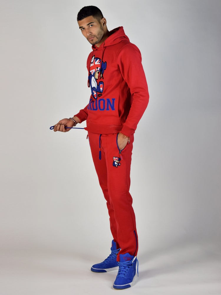 London Teddy Grind Global Sweatpant (Red)