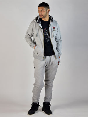 Teddy Grind Zip Hoodie (Heather Gray)