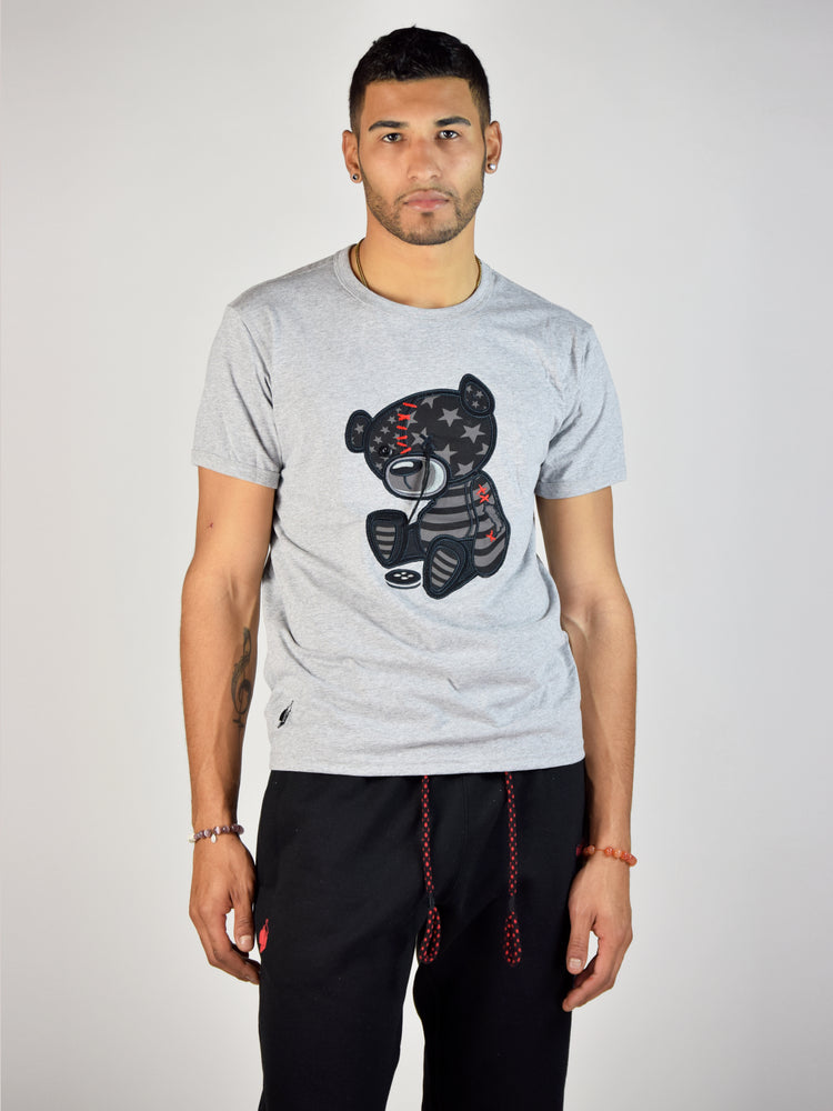 Black Flag Teddy Grind T-Shirt (Heather Grey)