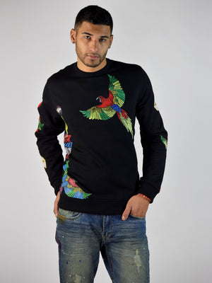 Jungle Bird Sweatshirt (Black)