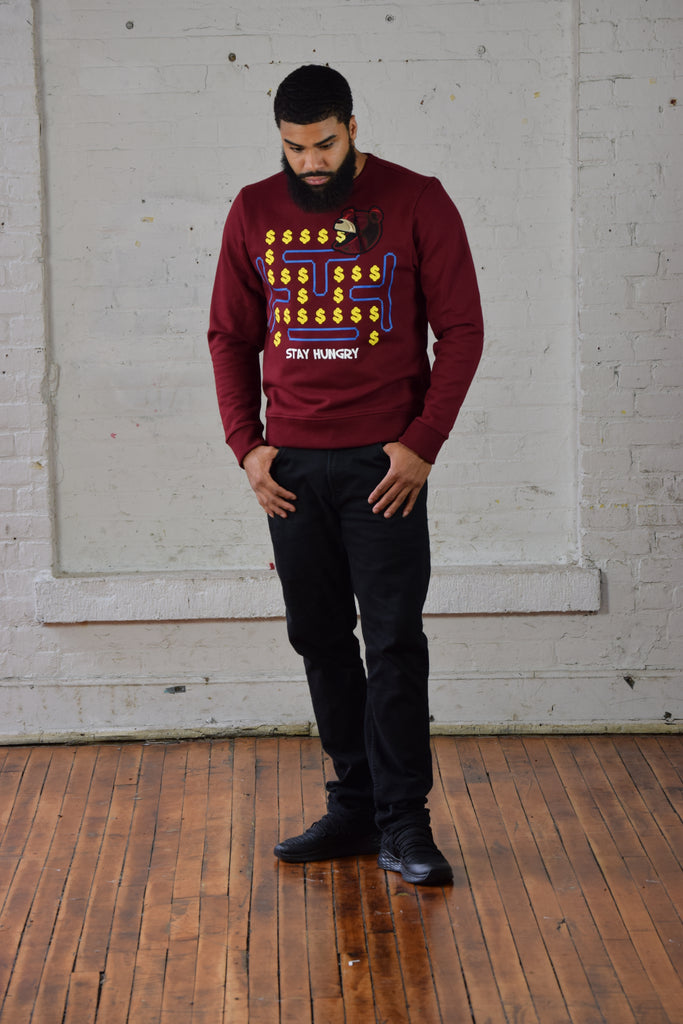 Stay Hungry - Man (Burgundy)