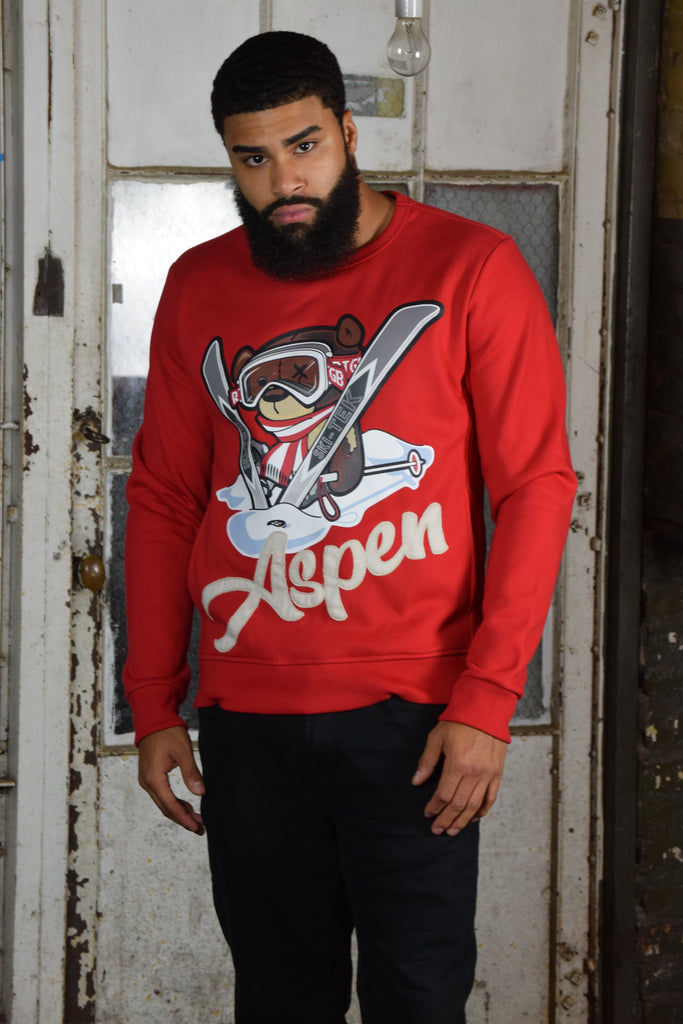 Teddy Aspen Sweatshirt (Red)