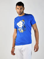 Teddy Foil T-Shirt (Blue/Gold)