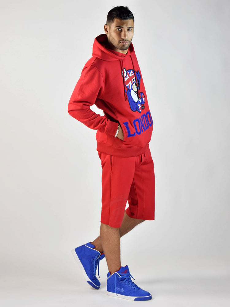London Teddy Grind Global Hoodie (Red)