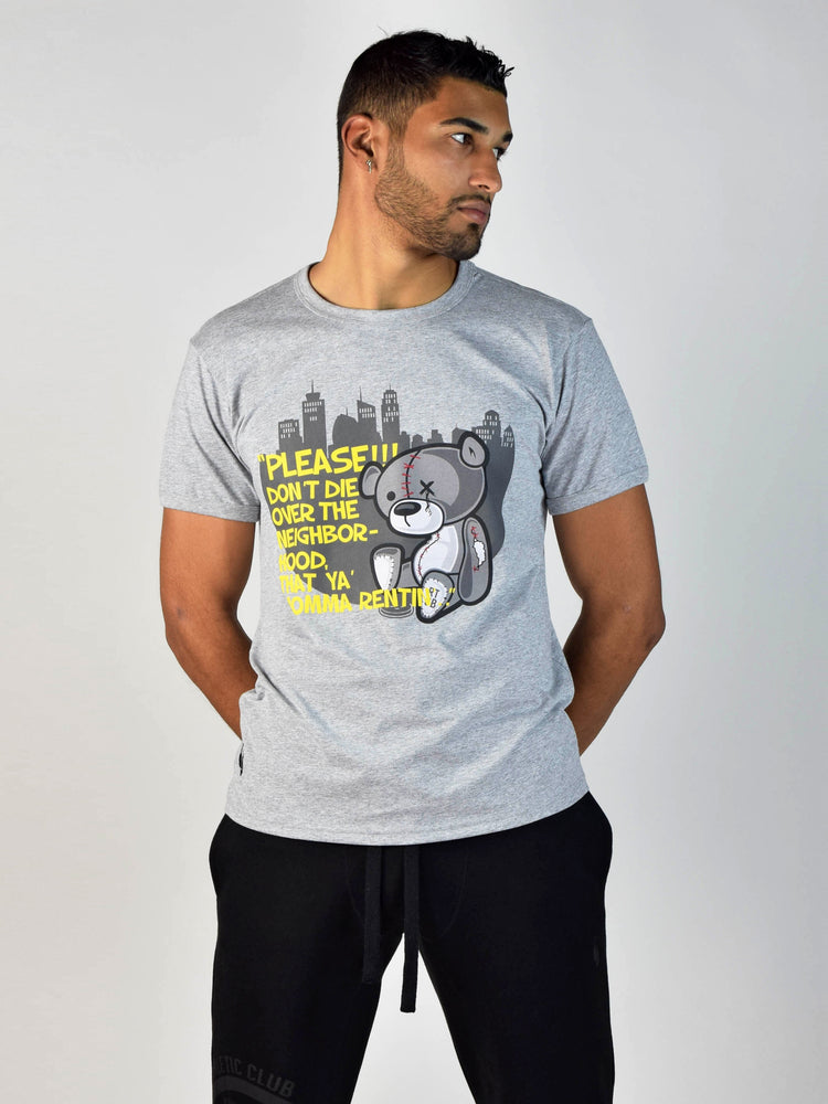 TEDDY DON'T DIE T-SHIRT (Heather Grey)