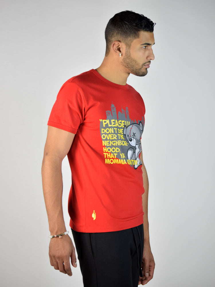 Teddy Neighborhood T-Shirt (Red)