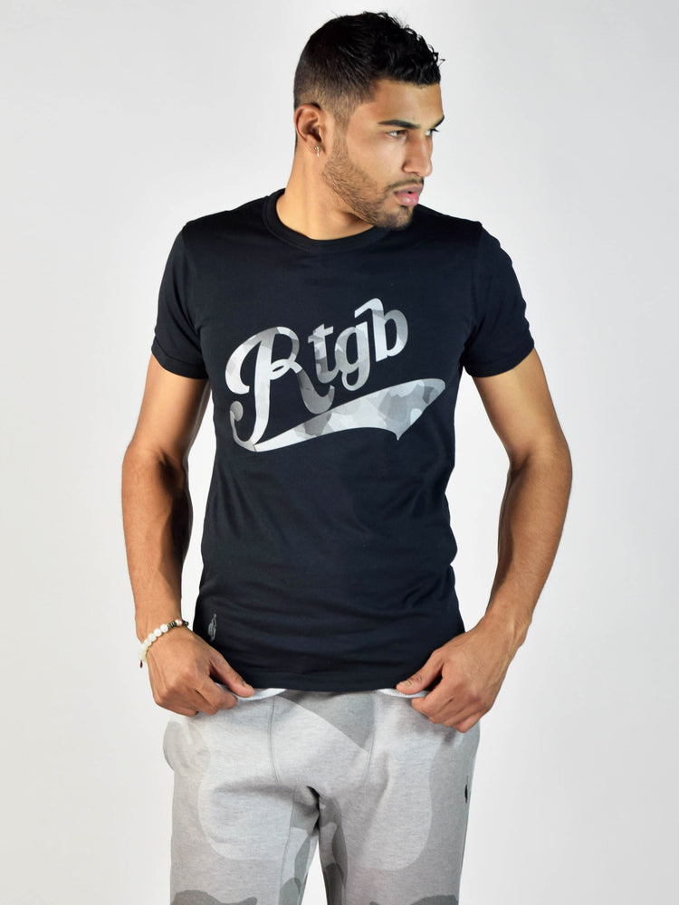 Watercolor Print T-Shirt (Black)