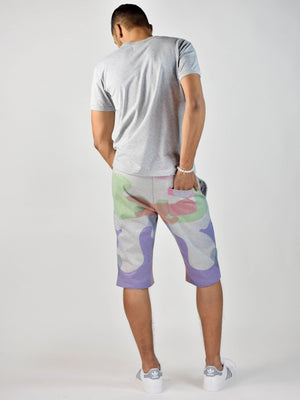 Watercolor 2 Shorts (Heather Grey/Color)