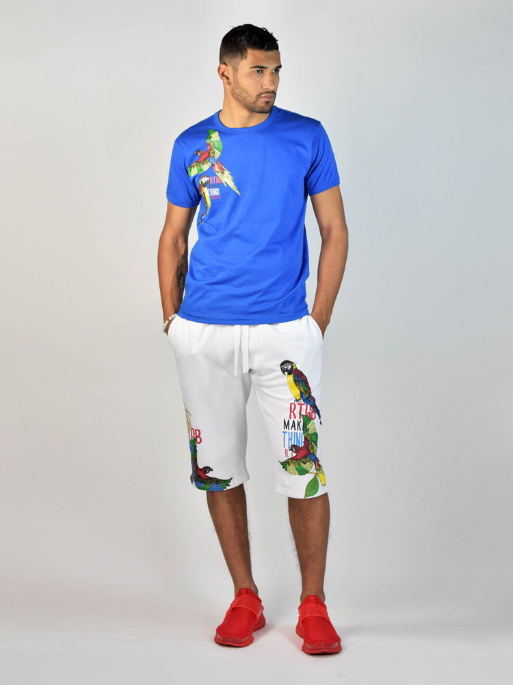 Jungle Bird Shorts (White)