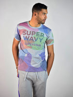 Super Wavy T-Shirt (Heather Grey/Color)