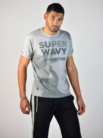 Super Wavy T-Shirt (Heather Grey)