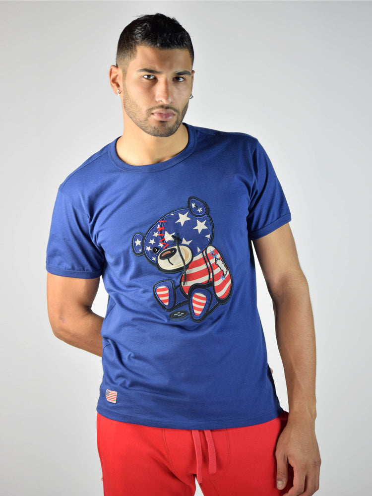 USA Teddy Grind Global  T-Shirt (Navy)