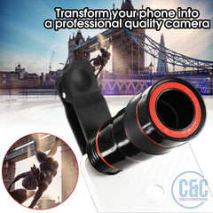 8 Times Zoom Optical Phone Telescope Portable Mobile Phone Telephoto Camera Lens and Clip