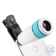 8x Zoom Optical Phone Telescope Portable Mobile Phone Telephoto Camera Lens and Clip for Smartphone Tablet
