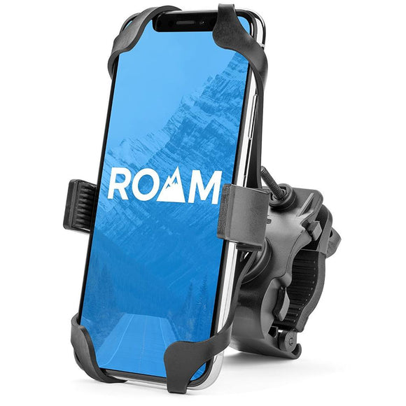 Roam Universal Premium Bike Phone Mount for Motorcycle - Bike Handlebars, Adjustable, Fits iPhone X , 8 | 8 Plus, 7 | 7 Plus, iPhone 6s | 6s Plus, Galaxy S7, S6, S5, Holds Phones Up To 3.5