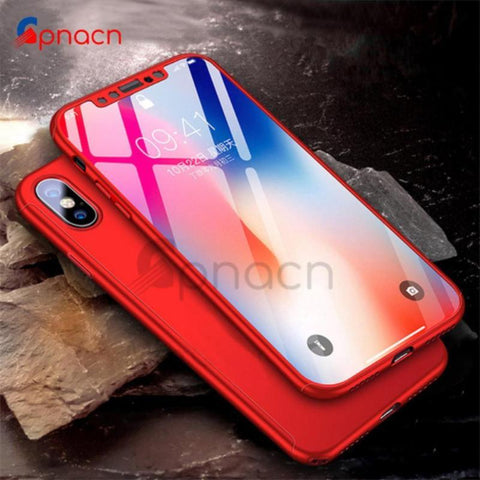 iPhone X Case 360° Protection UltraThin Hard Cover NonSlip Matte Nano Anti-explosion Protector - C & C