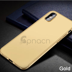 iPhone X Case 360° Protection UltraThin Hard Cover NonSlip Matte Nano Anti-explosion Protector