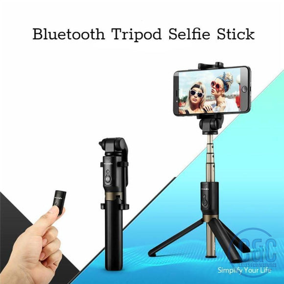 Bluetooth Selfie Stick Tripod,for iPhone, Samsung Galaxy, 360° Rotation - C & C