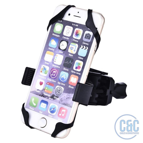 CellPhone Smartphone, PDA, iPod & GPS Universal Bike Motorcycle &  Bicycle Handlebar Mount Holder - C & C