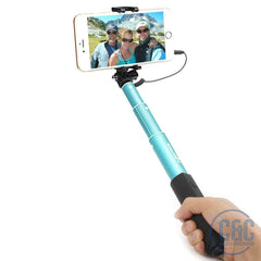 Extendable Wired Selfie Stick Monopod For iPhone , Samsung Galaxy, Smartphone, And More