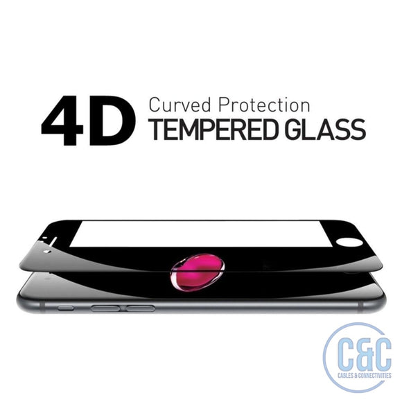 iPhone 4D Screen Protector Full Cover Tempered Glass, 3D Curved Film Edge - C & C