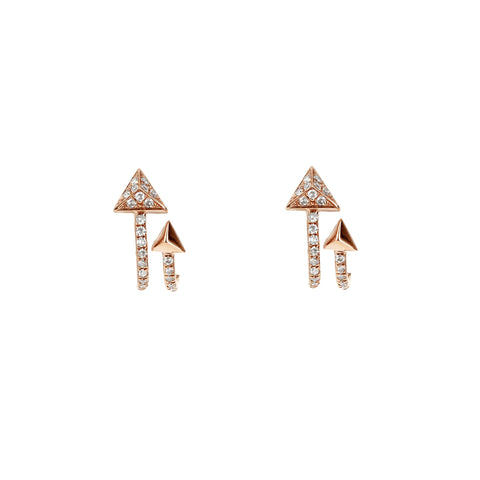Diamond Double Arrow Earrings