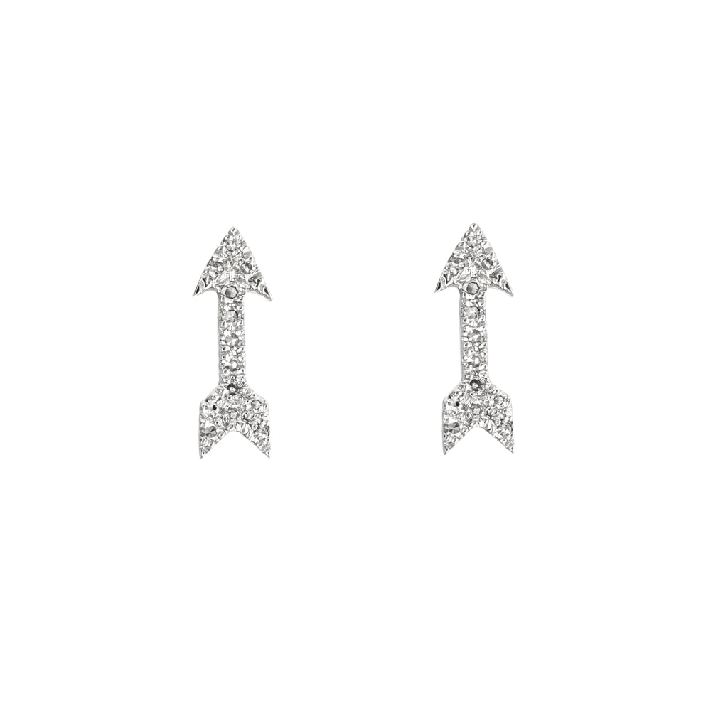 Diamond Dainty Arrow Stud Earrings