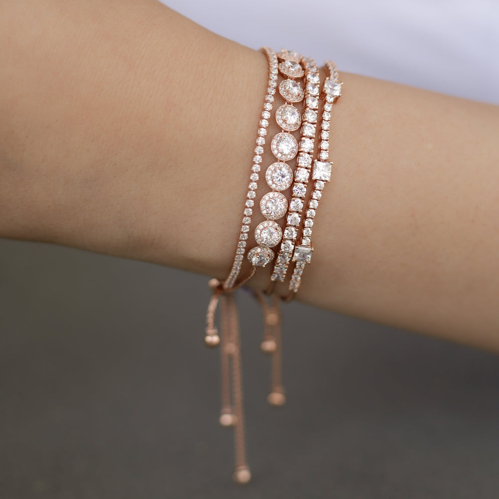 Rose Gold CZ Tennis Bracelet Stack From Alexandra Marks Jewelry