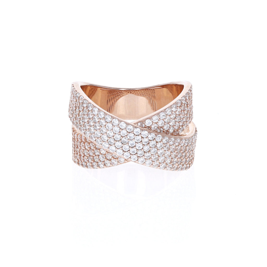 Rose Criss Cross Ring