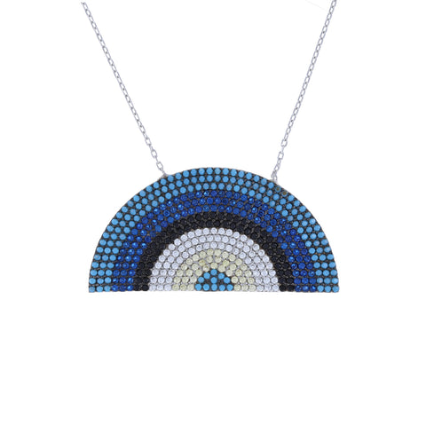 True Blue Rainbow Necklace
