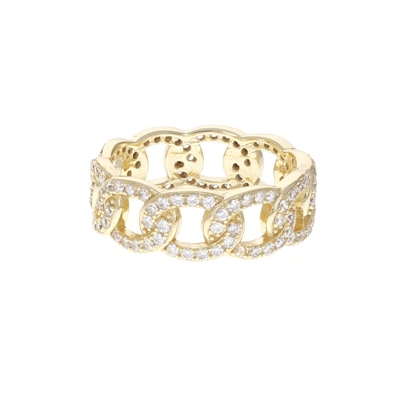 Gold Chain Link Eternity Band From Alexandra Marks Jewelry