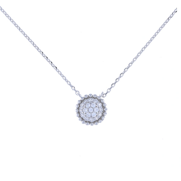 Dotted Halo Disc Necklace