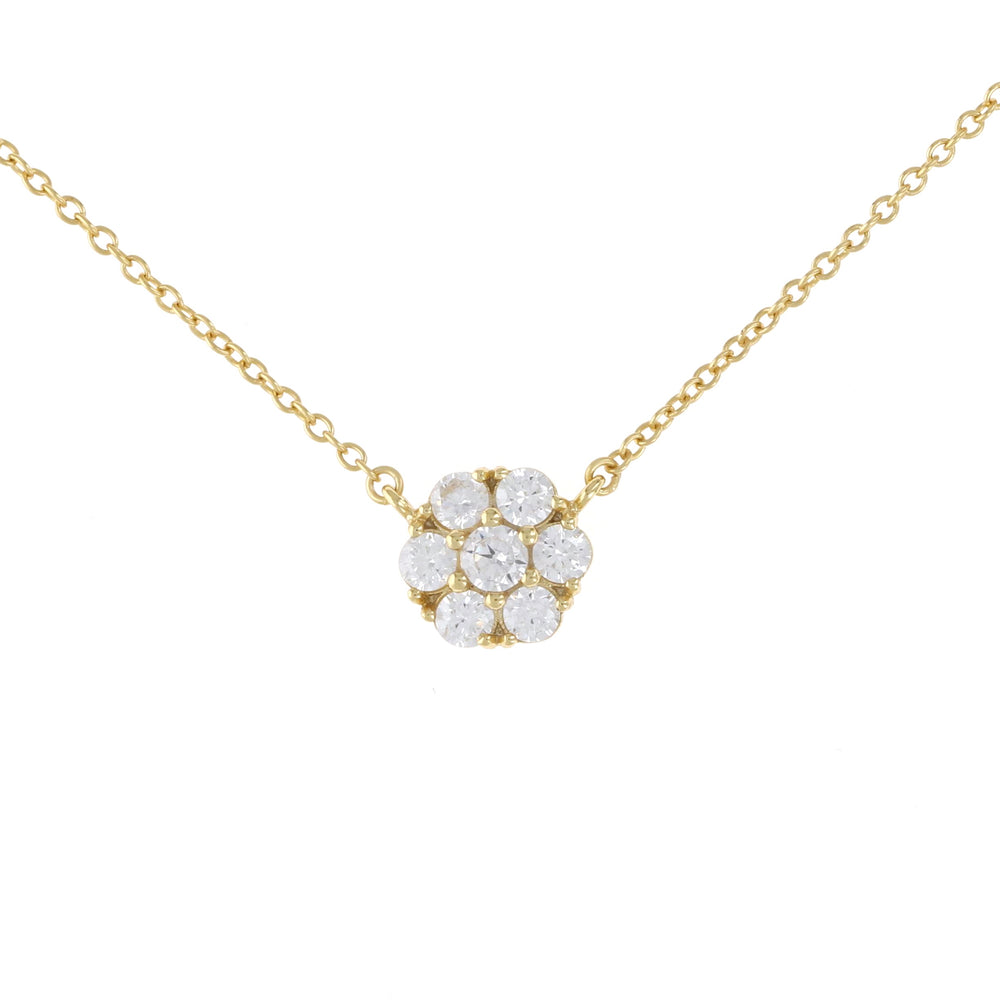 Gold Bouquet CZ Pendant Necklace | Alexandra Marks Jewelry