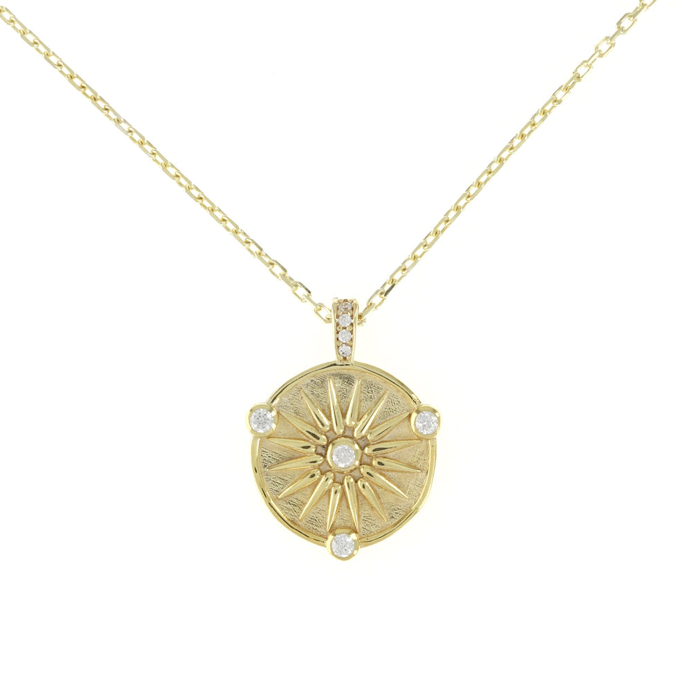 vintage inspired coin necklace in gold, 18""
