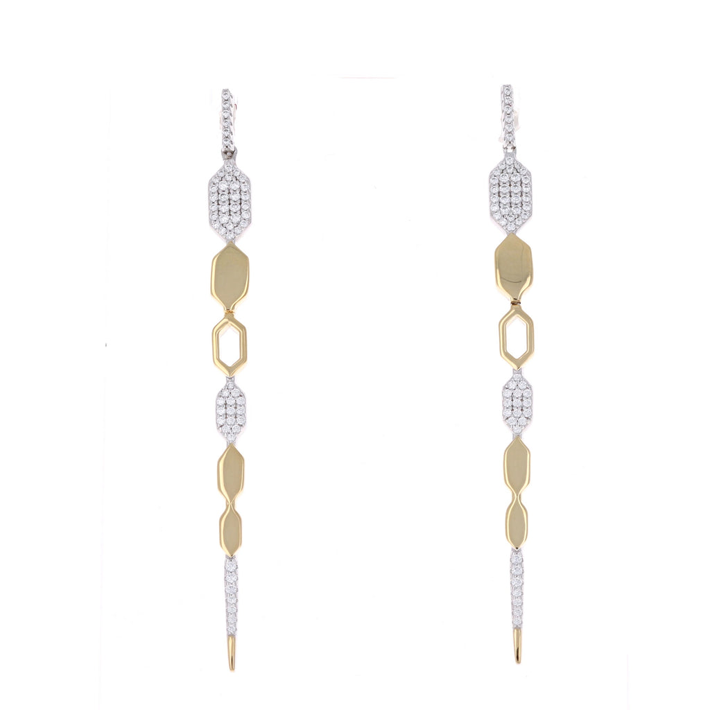 Gold Dagger Earrings
