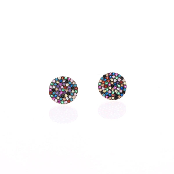 Mixed Up Rainbow Stud Earrings