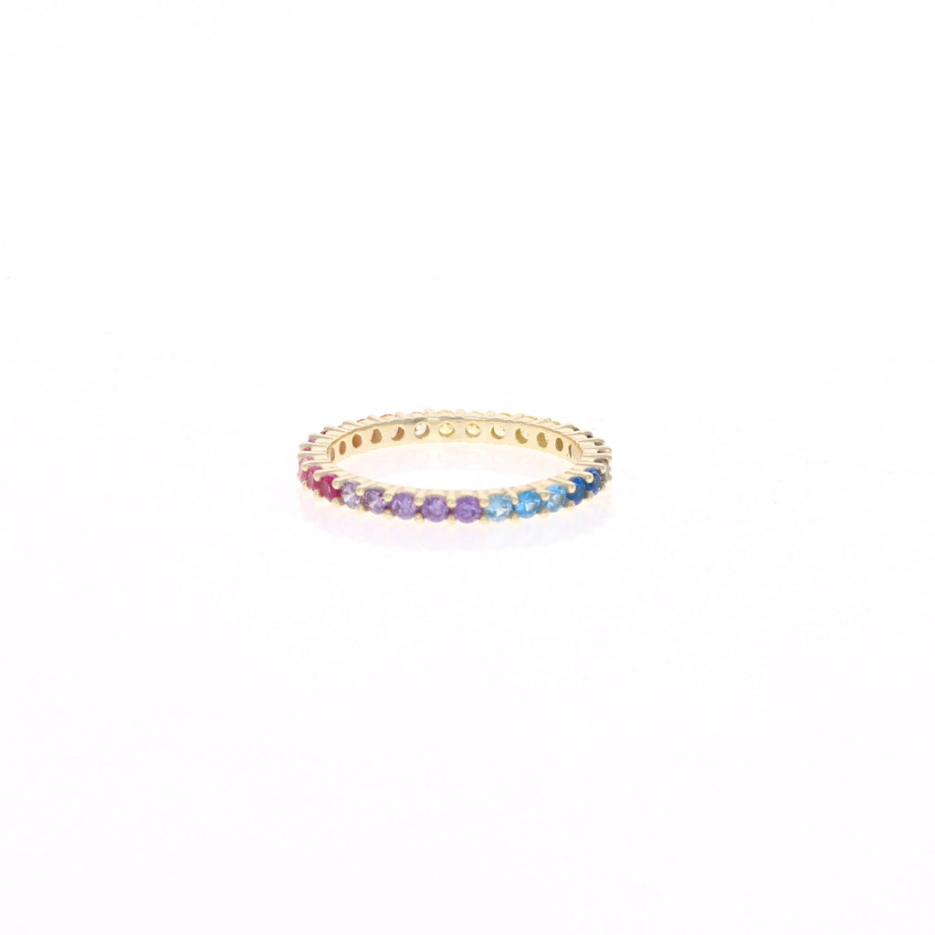 Golden Rainbow Eternity Band