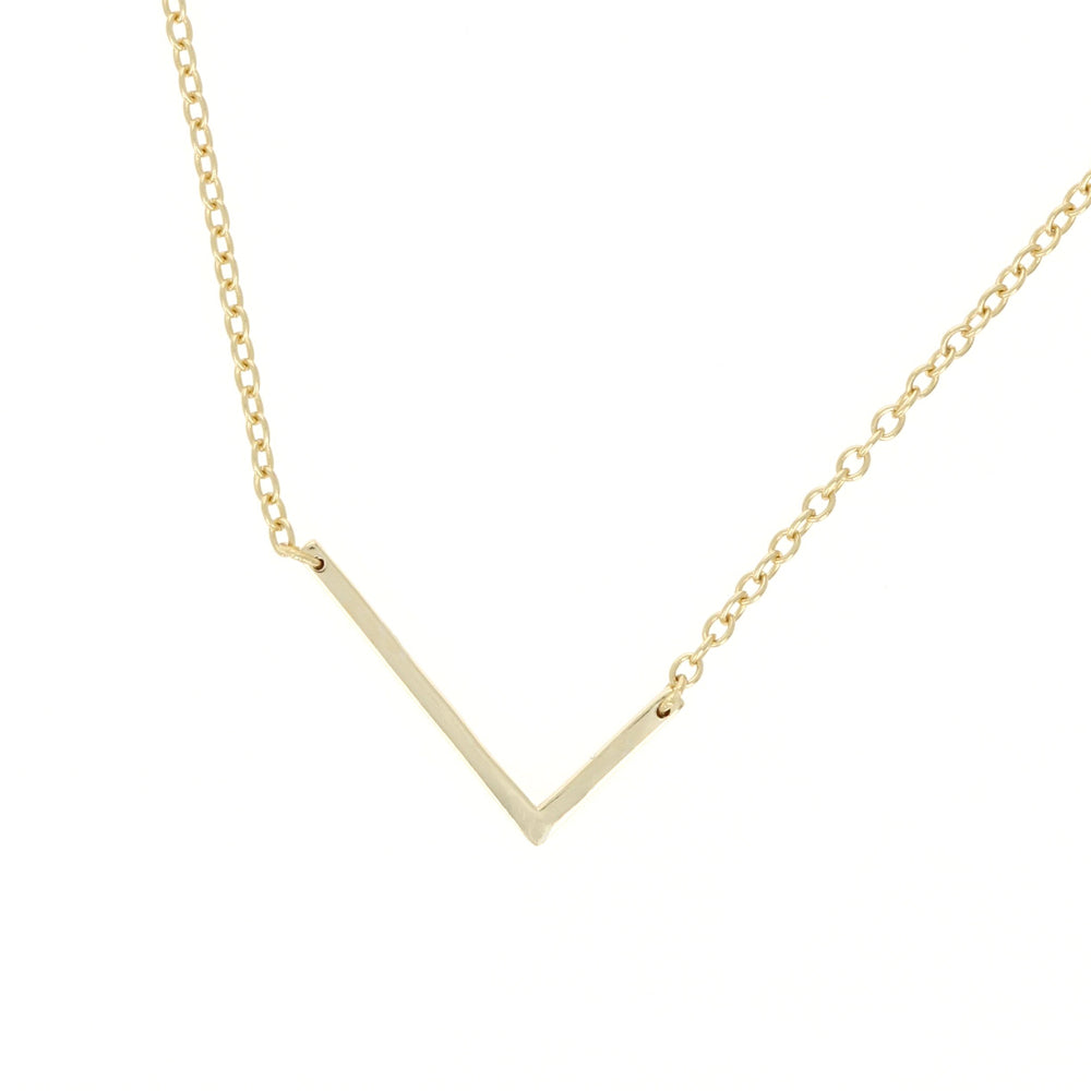 Alexandra Marks - gold sideways letter L initial necklace
