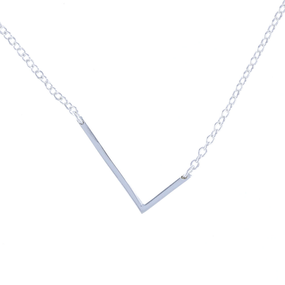 sterling silver letter L initial necklace