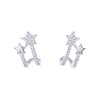 Double Star Cuff Earrings