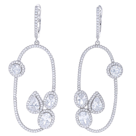 Opulent Oval Drop Earrings