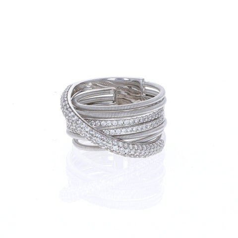 Wire Criss-Cross Silver Ring