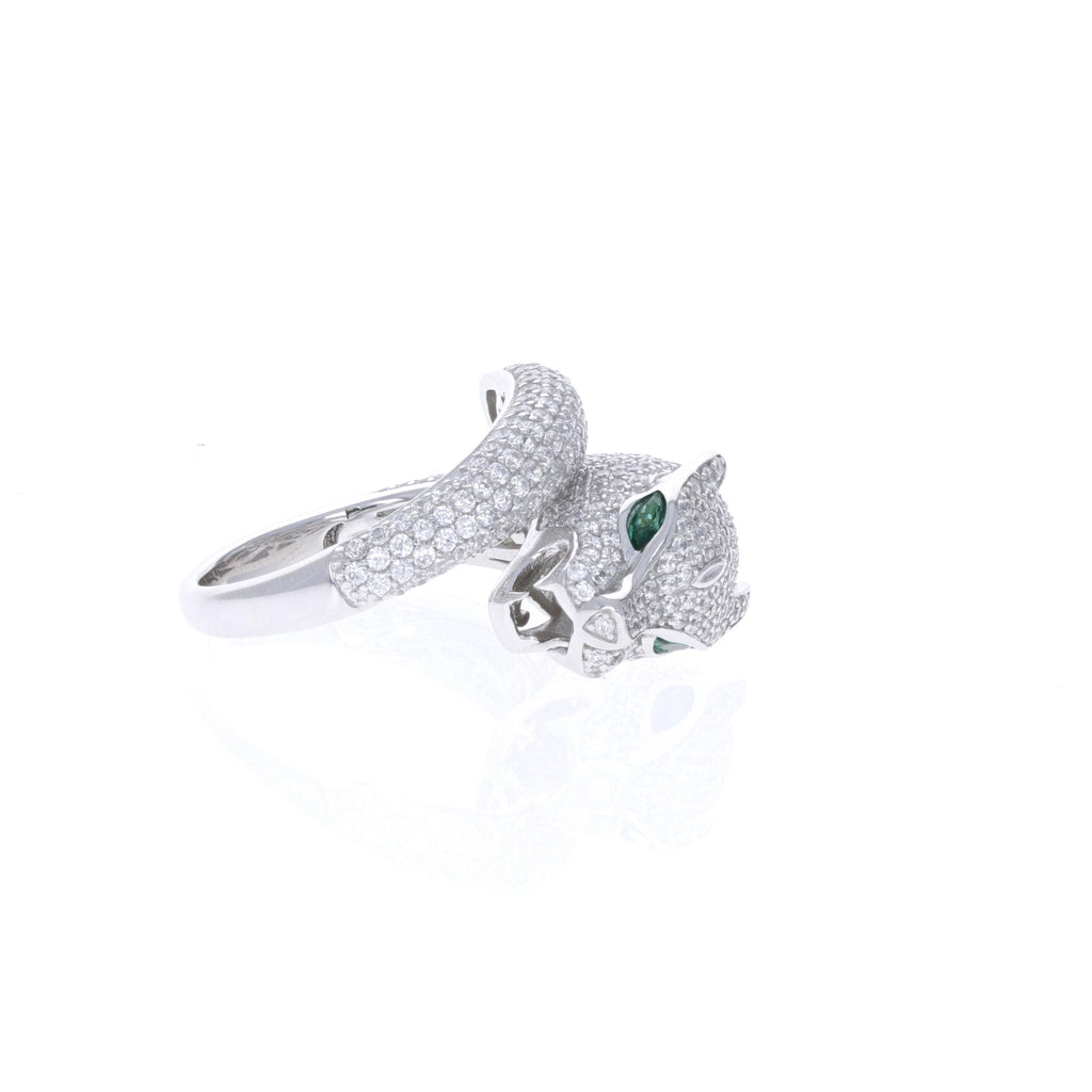 Green Eye Panther Ring
