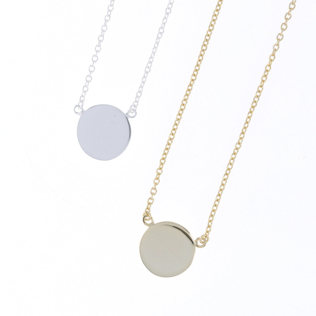 Plain Disc Necklace