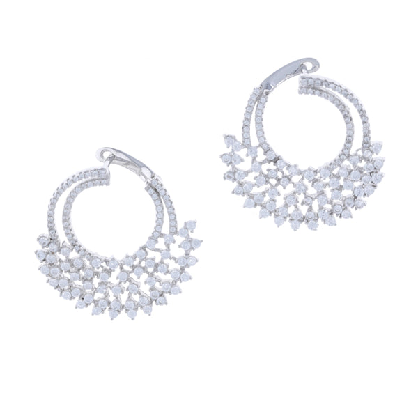 Cascading Cluster Statement Earrings