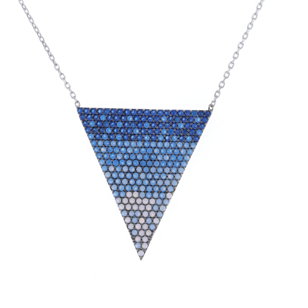 Blue Ombre Triangle Necklace
