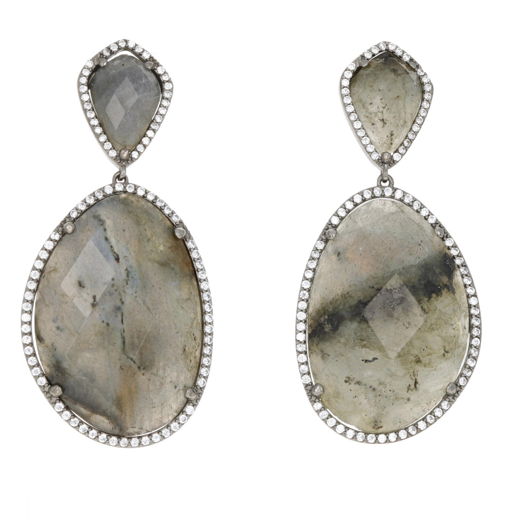 Labradorite Free Form Earrings