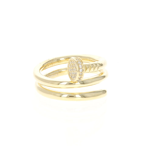 Wrapped Golden Nail RIng