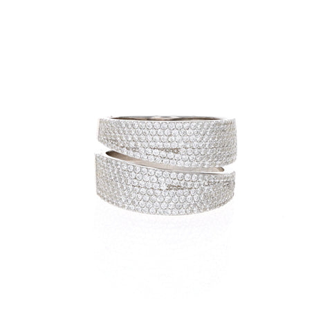 Silver Wide Wrap Ring