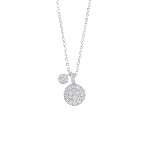 Silver Dainty Disc Charm Necklace